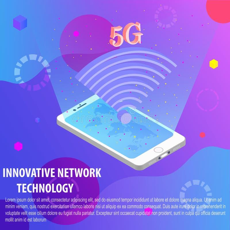 Διανυσματικό σχέδιο ενός κινητού τηλεφώνου σε ένα χρωματισμένο υπόβαθρο ελεύθερη απεικόνιση δικαιώματος