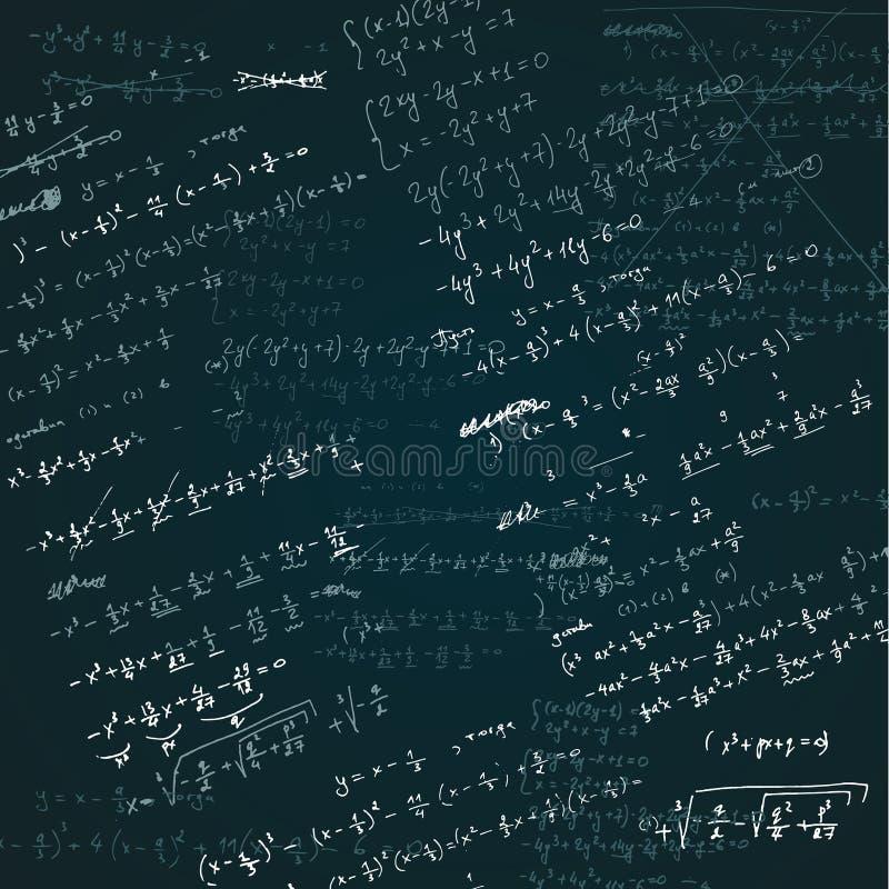 Διανυσματικό συρμένο χέρι σκίτσο της απεικόνισης άλγεβρας στο άσπρο υπόβαθρο απεικόνιση αποθεμάτων