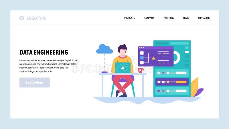 Διανυσματικό πρότυπο σχεδίου ιστοχώρου Ανάπτυξη λογισμικού, εργασία κωδικοποιητών πίσω από το lap-top Έννοιες σελίδων προσγείωσης απεικόνιση αποθεμάτων