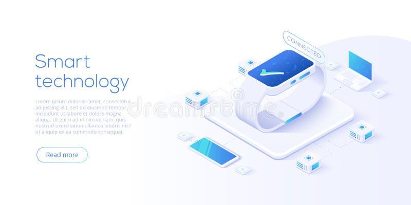 Διαδίκτυο του σχεδιαγράμματος πραγμάτων Σε απευθείας σύνδεση συγχρονισμός και σύνδεση IOT μέσω της ασύρματης τεχνολογίας smartpho απεικόνιση αποθεμάτων