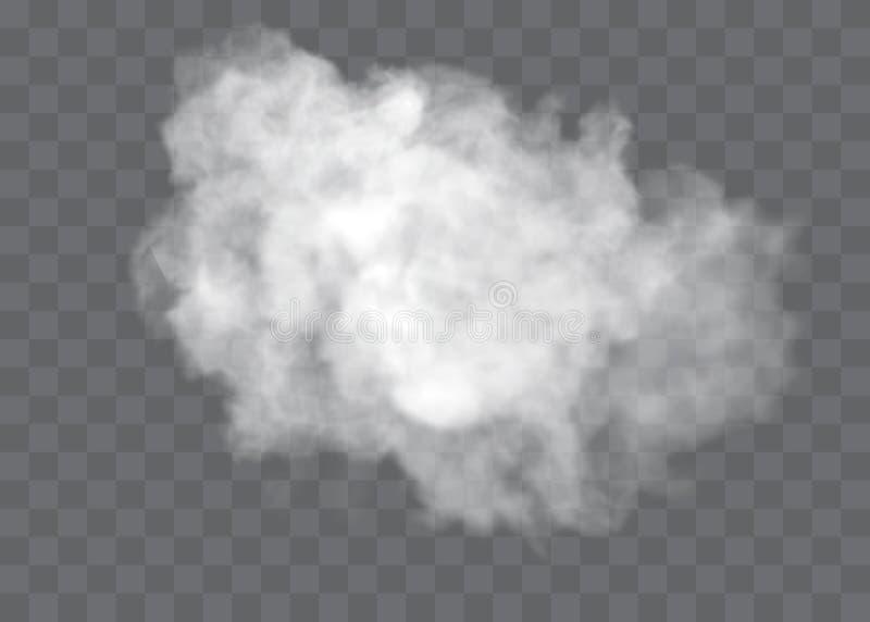 Διαφανείς στάσεις ειδικό εφέ έξω με την ομίχλη ή τον καπνό Άσπρο διάνυσμα, ομίχλη ή αιθαλομίχλη σύννεφων ελεύθερη απεικόνιση δικαιώματος