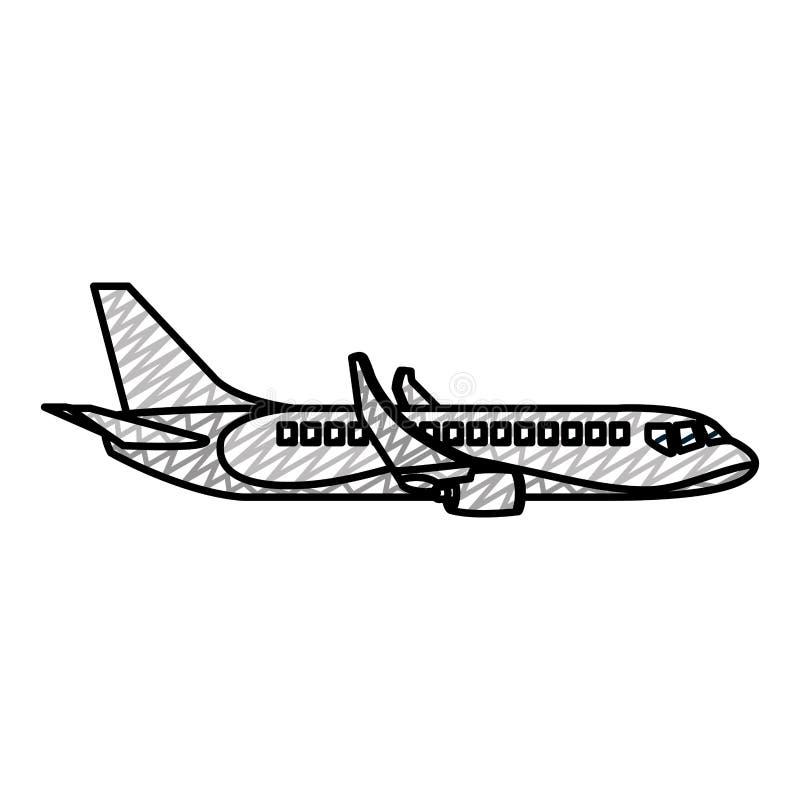 Διεθνής μεταφορά αεροπλάνων ταξιδιού Doodle δευτερεύουσα απεικόνιση αποθεμάτων