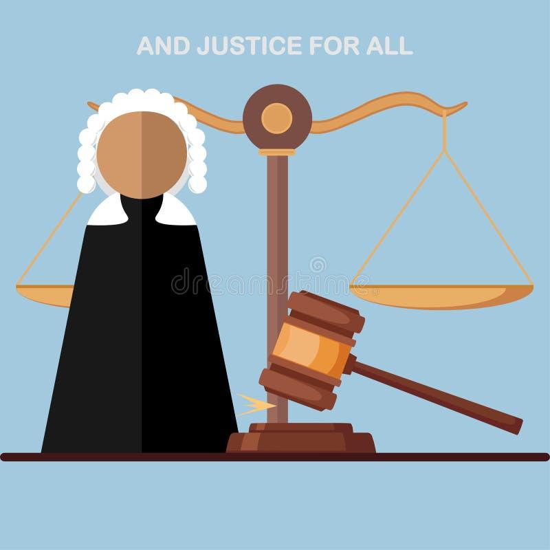 Δικαστής στο δικαστήριο, εικονίδιο πληρεξούσιων που απομονώνεται στο υπόβαθρο Νομικός νόμος, δικαιοσύνη Διανυσματικό σχέδιο κινού ελεύθερη απεικόνιση δικαιώματος