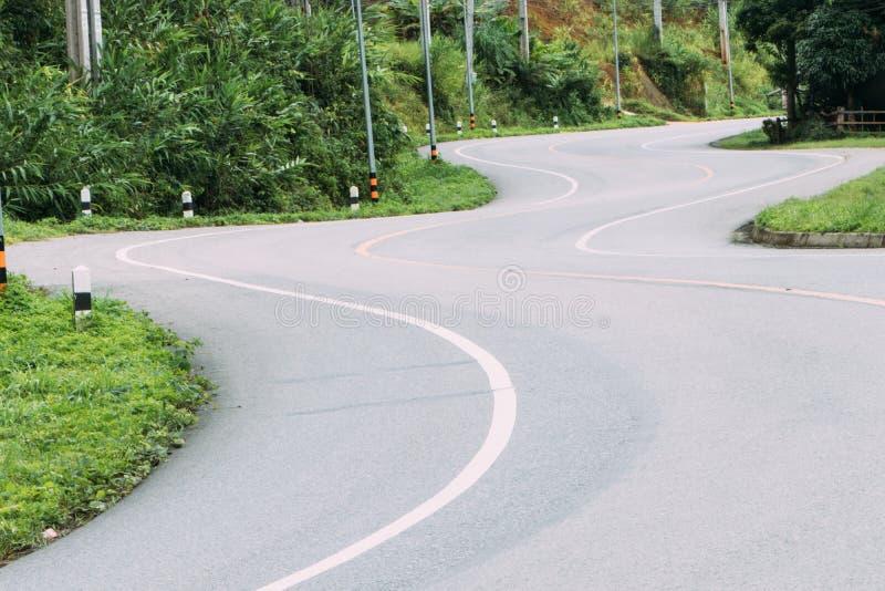 Δρόμος με πολλ'ες στροφές ασφάλτου στοκ εικόνα με δικαίωμα ελεύθερης χρήσης