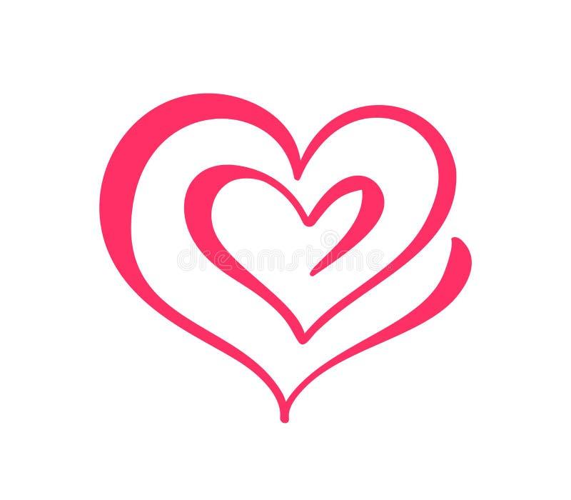 Δύο σημάδια καρδιών αγάπης ρομαντικός Διανυσματικό σύμβολο εικονιδίων απεικόνισης - ενώστε το πάθος και το γάμο Πρότυπο για την μ απεικόνιση αποθεμάτων