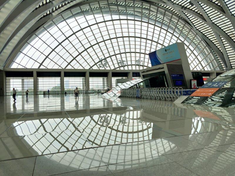 Δυτικός σιδηροδρομικός σταθμός Tianjin, Κίνα στοκ φωτογραφία με δικαίωμα ελεύθερης χρήσης
