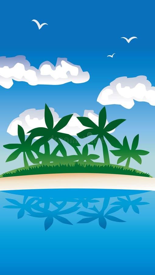 Île illustration libre de droits