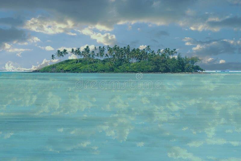Île abandonnée photo stock