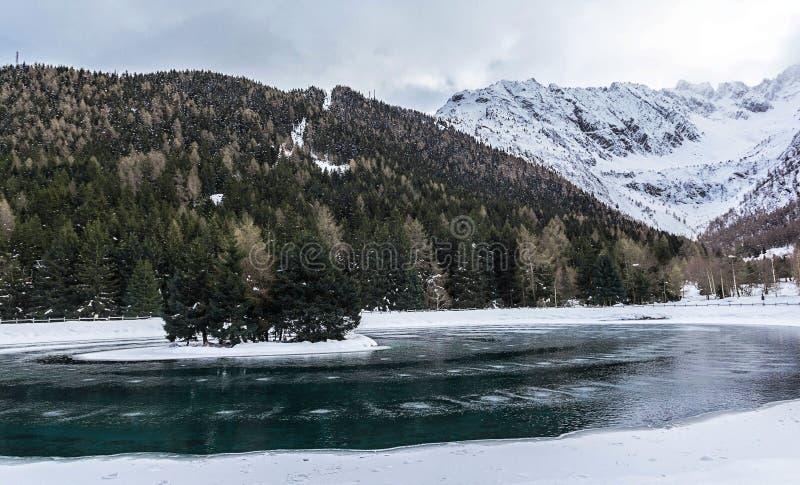Île au milieu du lac images libres de droits
