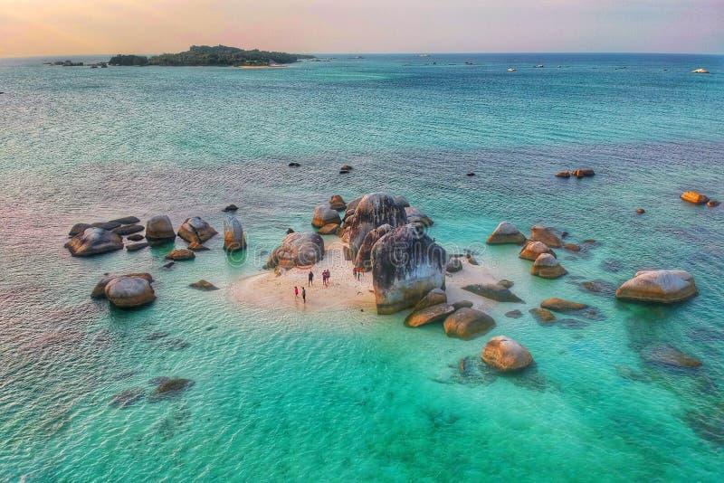 Île Belitung de Batu Berlayar images libres de droits