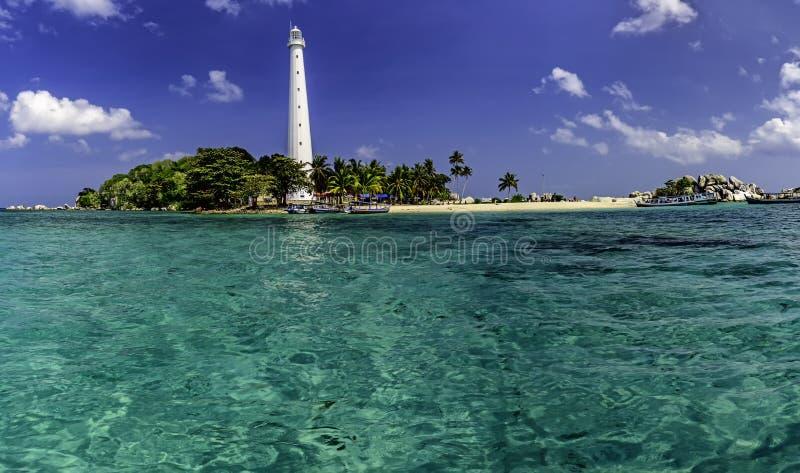 Île Belitung-Indonésie de Lengkuas image libre de droits