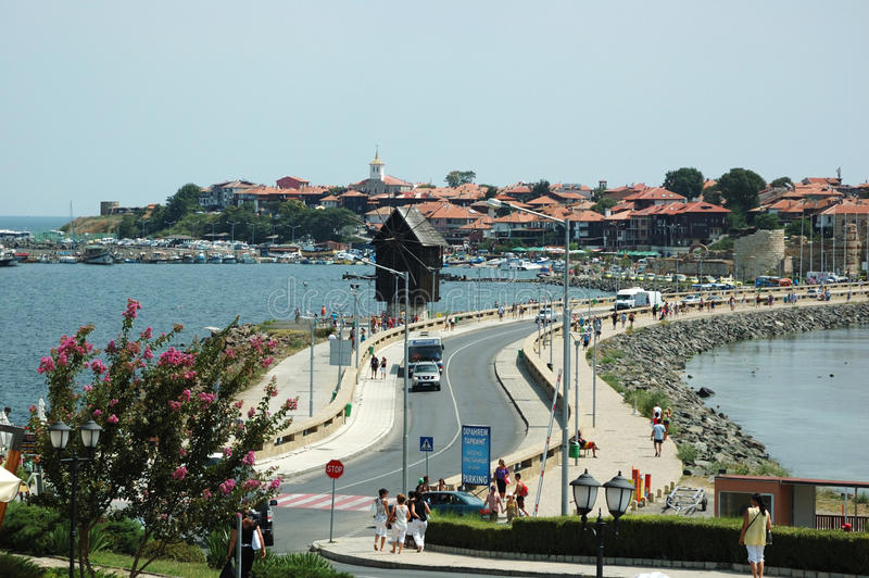Île célèbre de Nesebar - place touristique populaire image stock