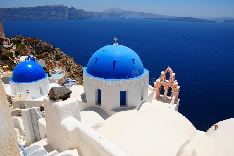 Île célèbre de Santorini, Grèce images libres de droits