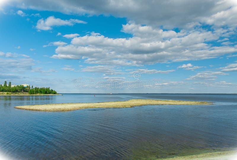 Île cachée dans Kamyshin photo stock