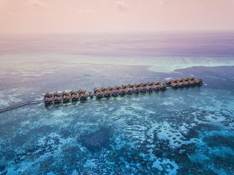 Île choisie de hudhuranfushi d'Adaaran en Maldives images libres de droits