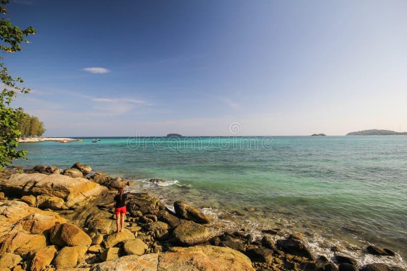 Île d'Adang, province Thaïlande de Koh Adang Satun photographie stock