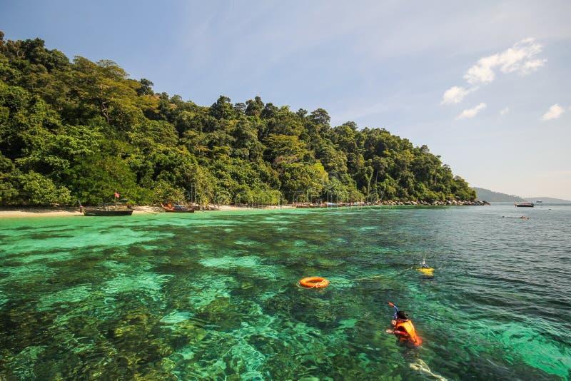 Île d'Adang, province Thaïlande de Koh Adang Satun images stock