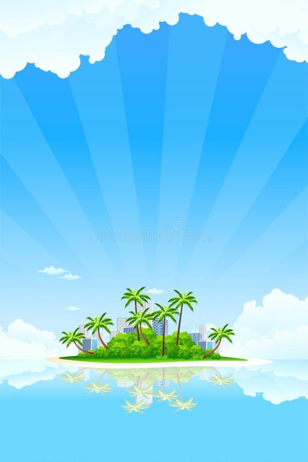 Île d'affaires illustration libre de droits