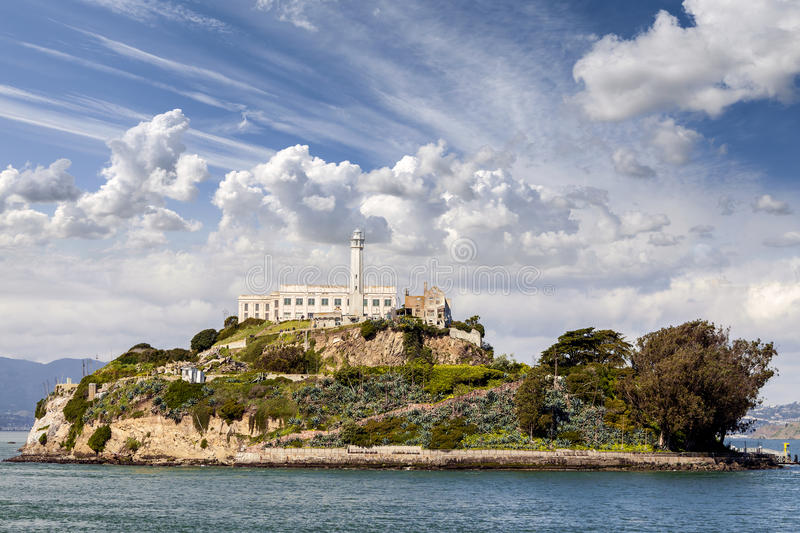 Île d'Alcatraz à San Francisco, Etats-Unis images stock