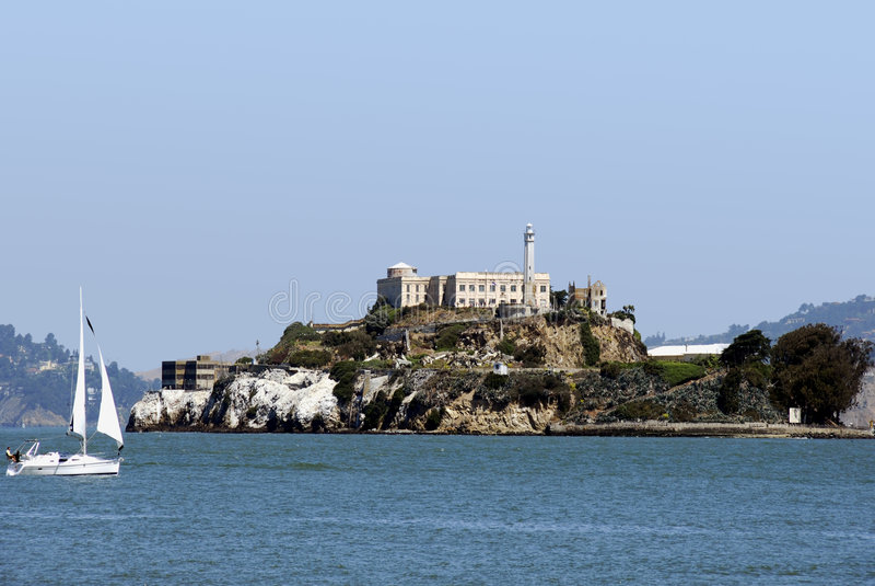 Île d'Alcatraz image stock