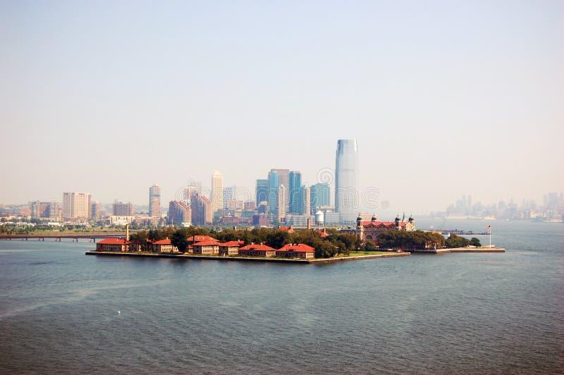 Île d'Ellis, New York City, New Jersey image libre de droits