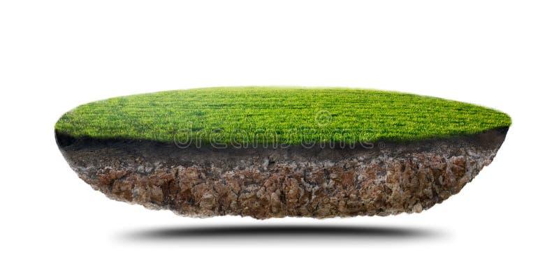 Île d'herbe verte illustration libre de droits