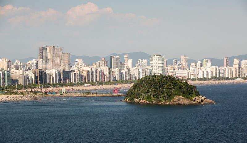 Île d'Urubuqueçaba, Santos, Brésil photos libres de droits