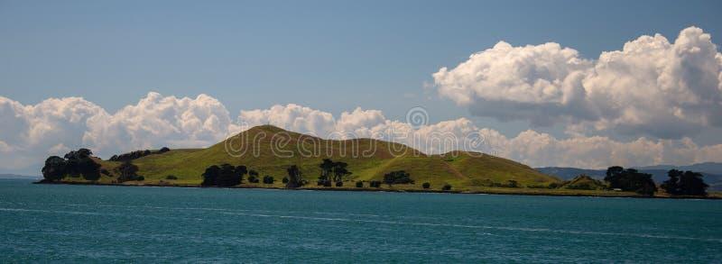 Île dans le Waitemata, Auckland, Nouvelle-Zélande photos stock