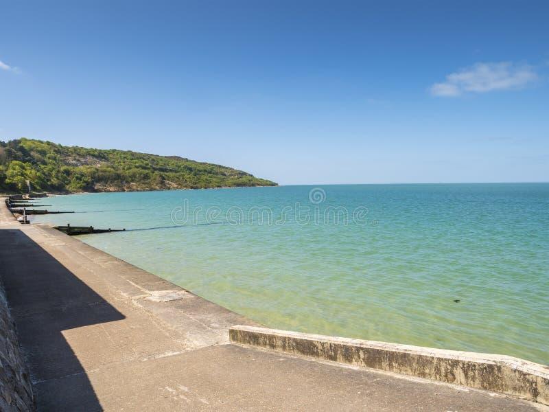 Île de baie d'alun de côte de Wight à côté des aiguilles images libres de droits