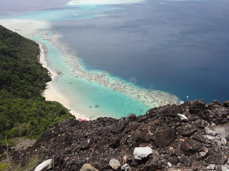 Île de Bohey Dulang photos stock