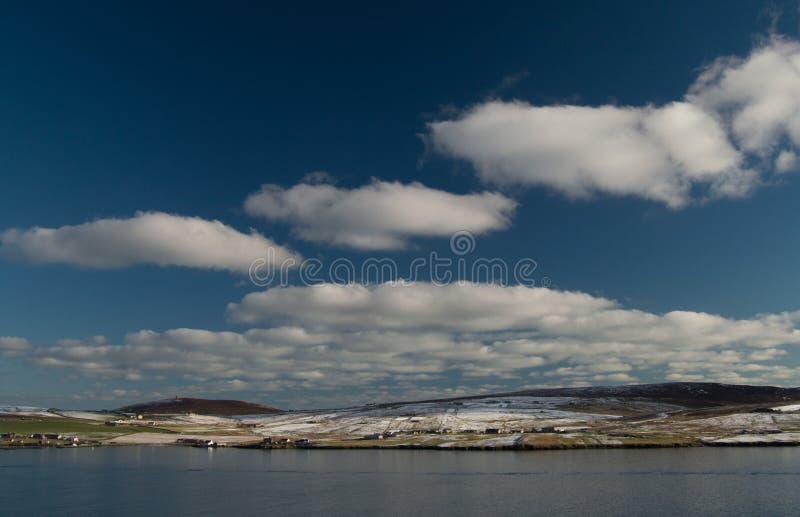 Île de Bressay, une des Îles Shetland photo stock