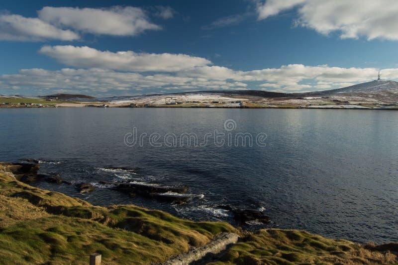 Île de Bressay, une des Îles Shetland photos stock