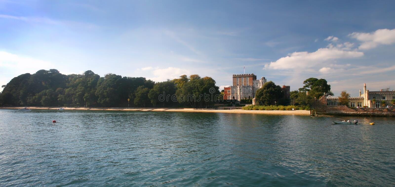 Île de Brownsea - port de Poole images libres de droits