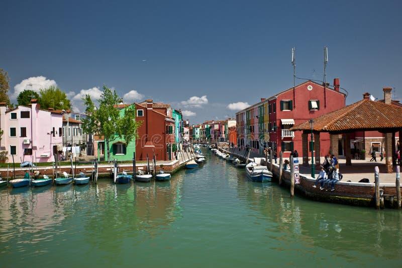 Île de Burano en Italie photographie stock libre de droits