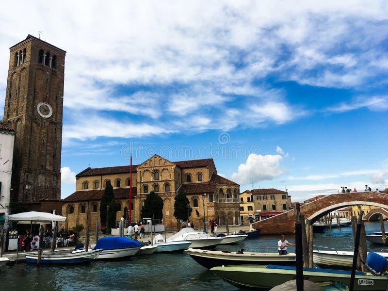 Île de Burano, Venise, Italie photos libres de droits