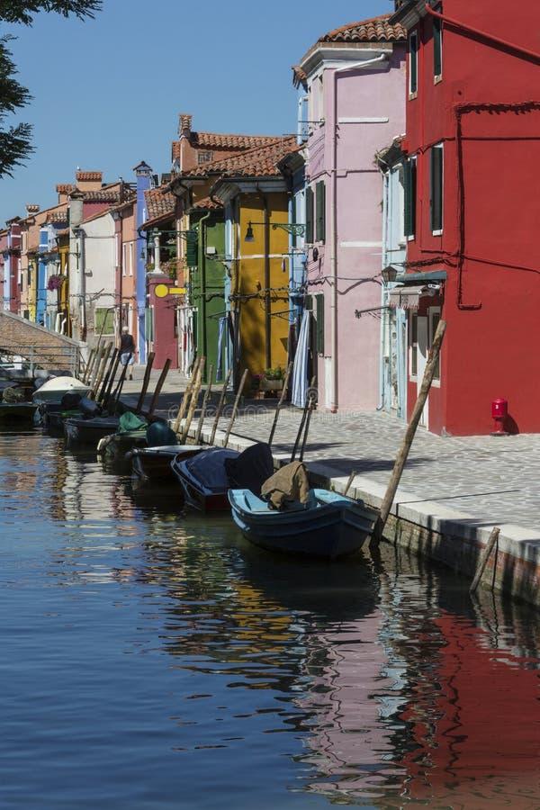 Île de Burano - Venise - l'Italie image libre de droits