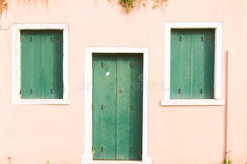 Île de Butano, Venise, Italie photographie stock libre de droits
