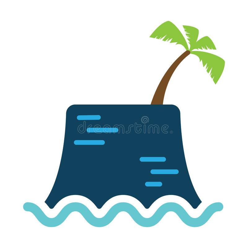 Île de Contributor_Icon illustration stock