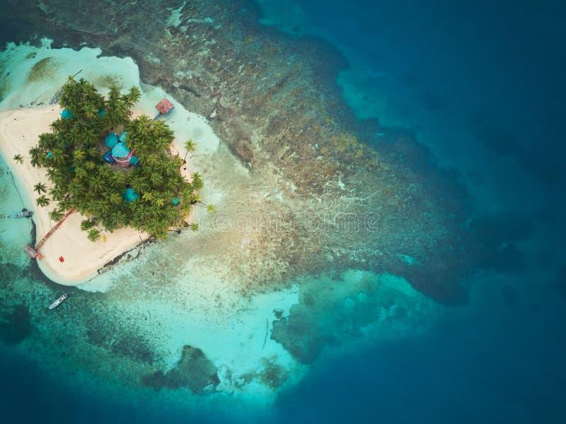 Île de corail au Nicaragua photo stock
