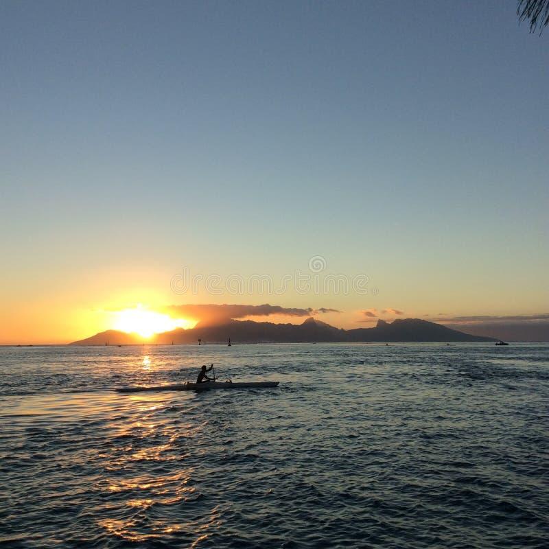 Île de coucher du soleil photo libre de droits