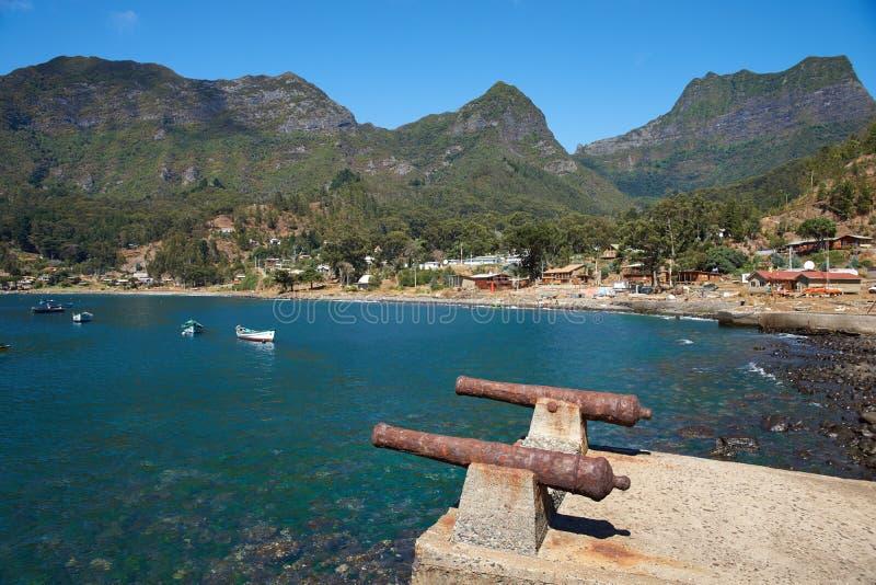 Île de crusoe de Robinson photographie stock