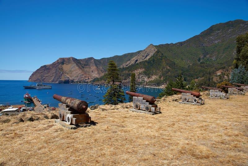 Île de crusoe de Robinson photos stock