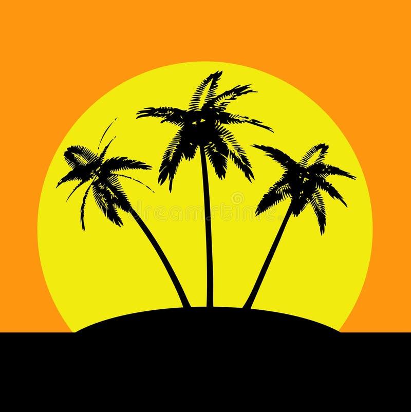 Île de désert illustration de vecteur