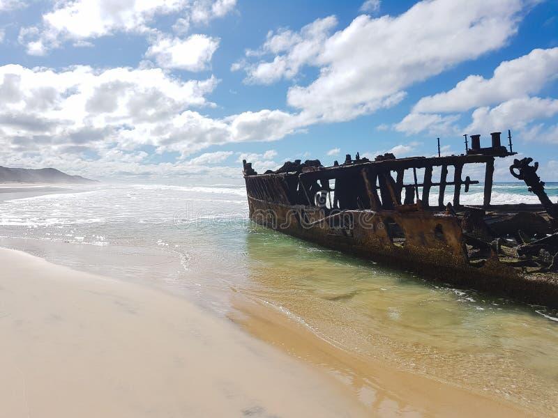 Île de fraser d'Epave Australie image stock