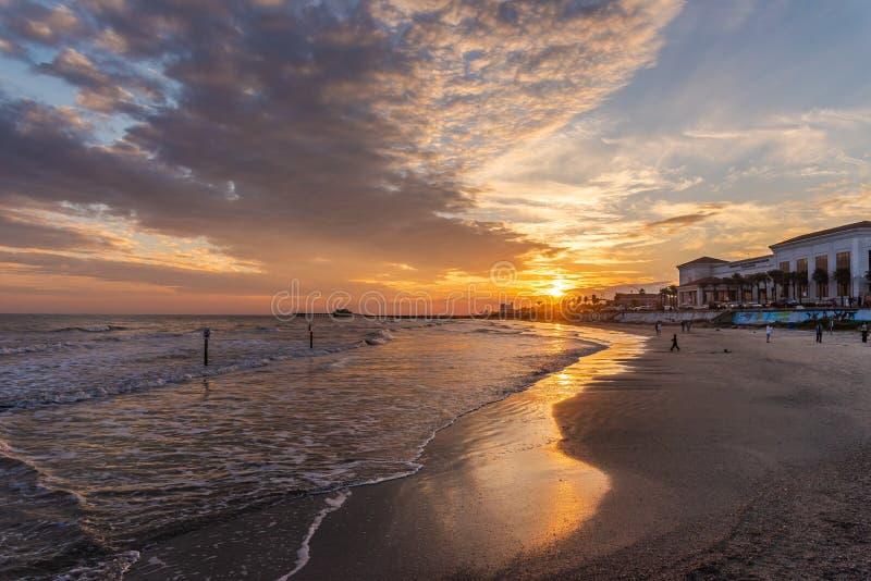 Île de Galveston, le Texas image libre de droits