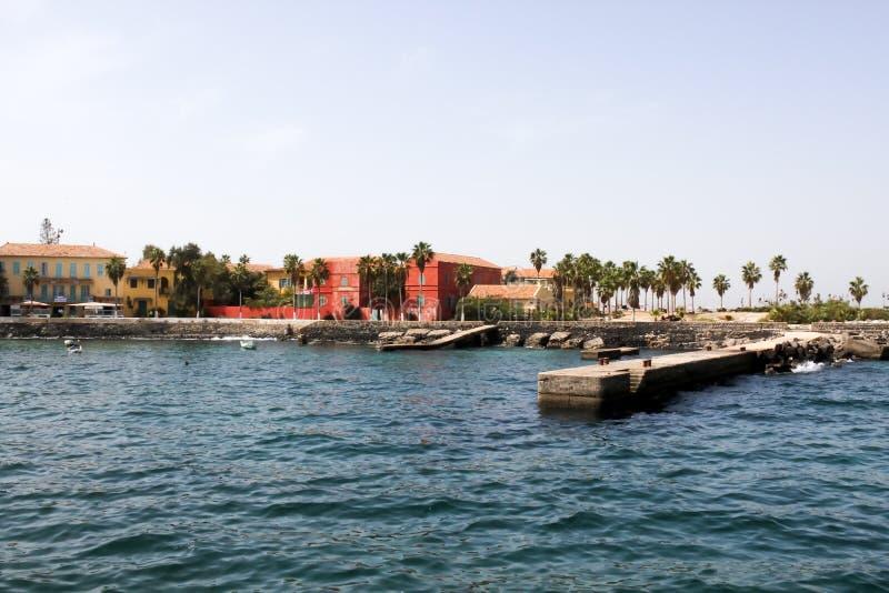 Île de Goree, Sénégal images stock