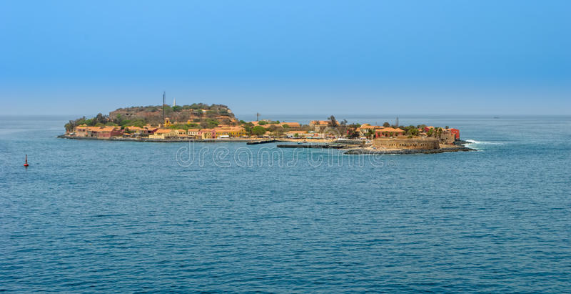 Île de Goree, Sénégal image libre de droits