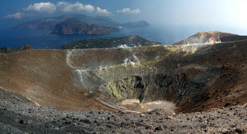 Île de Gran Cratere - de Vulcano images libres de droits