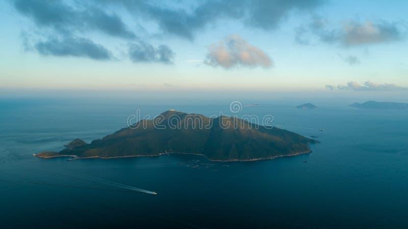 Île de Hong Kong Sunset Tung Lung image stock