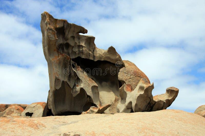 Île de kangourou, Australie roches remarquables photographie stock libre de droits
